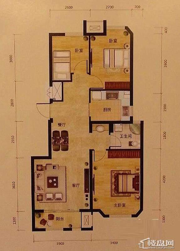 4号楼标准层A1户型