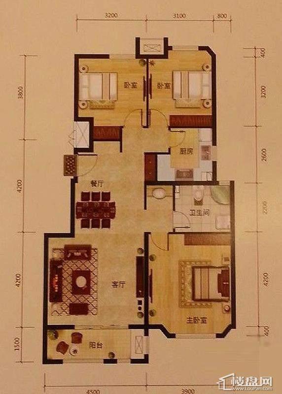 6号楼标准层B1户型