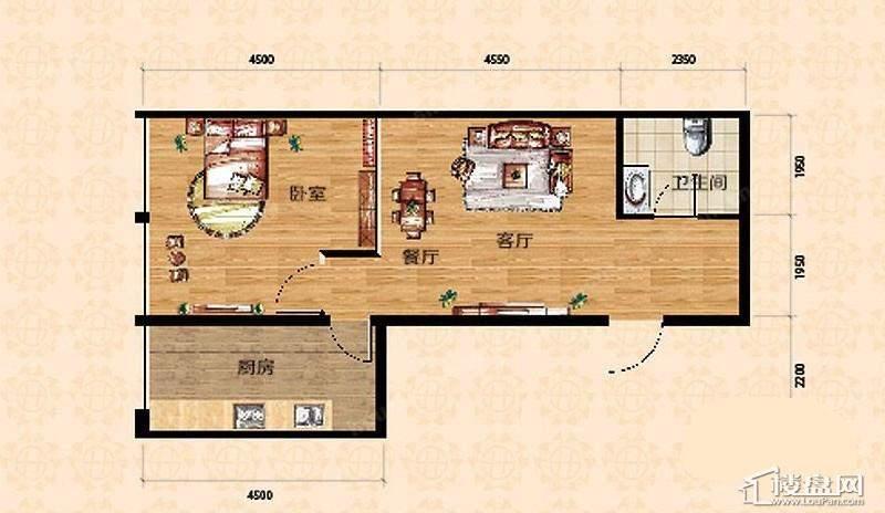 高层一期9、10号楼标准层A户型