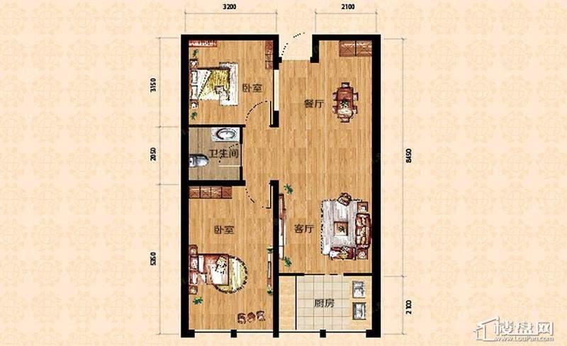 高层一期9、10号楼标准层D户型