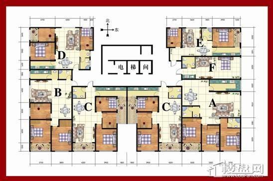 东方家园A区户型图