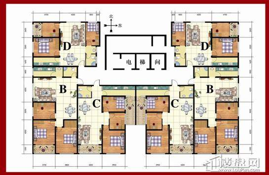 东方家园户B区型图