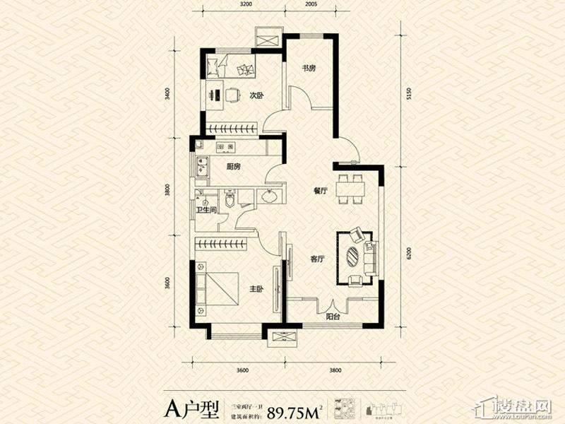 3期14号楼标准层A户型