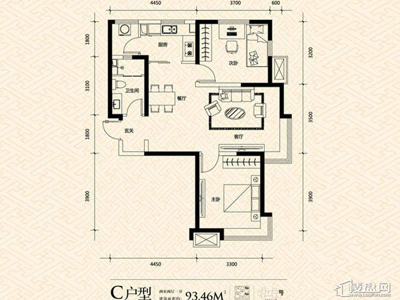 3期14号楼标准层C户型