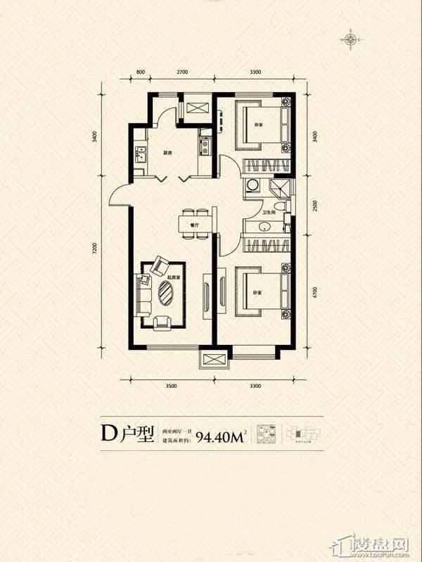 3期14号楼标准层D户型