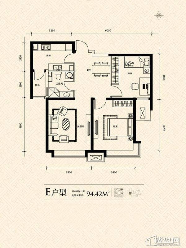 3期14号楼标准层E户型