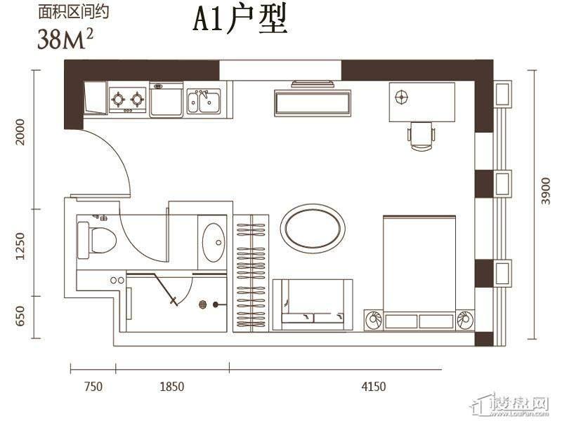 2号楼标准层A1户型