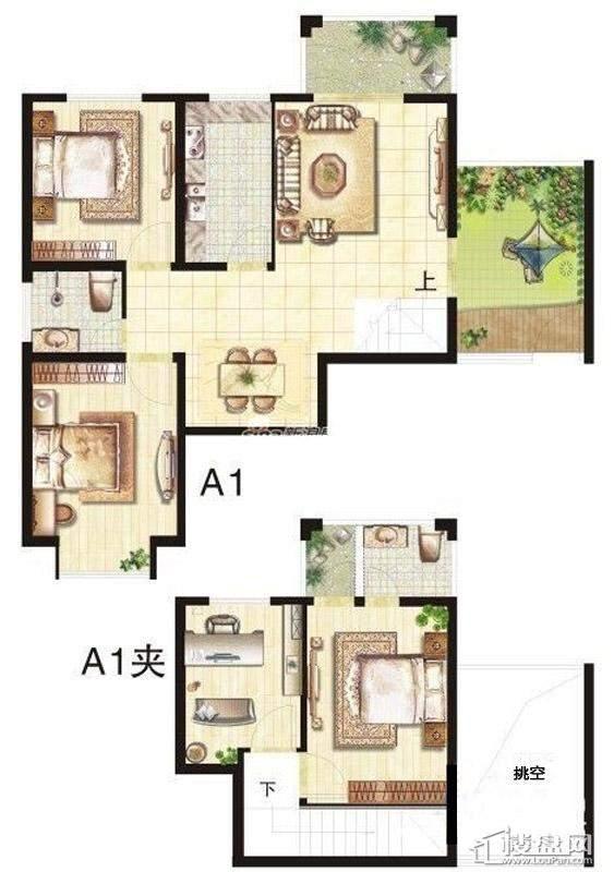 五期立体叠家升级版A1二层户型