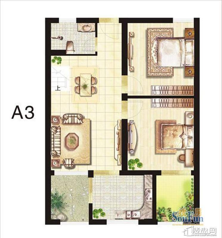 五期立体叠家升级版A3上层户型
