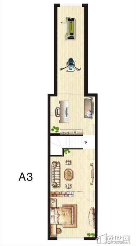 五期立体叠家升级版A3底层户型