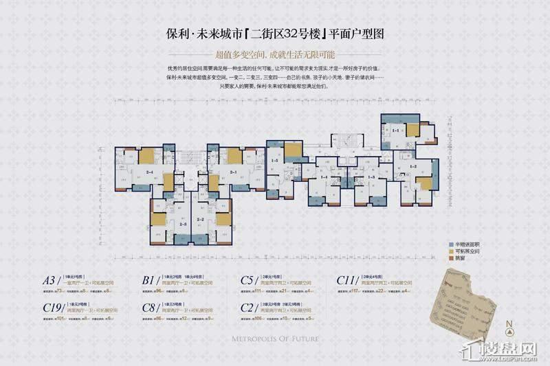 保利未来城市户型图