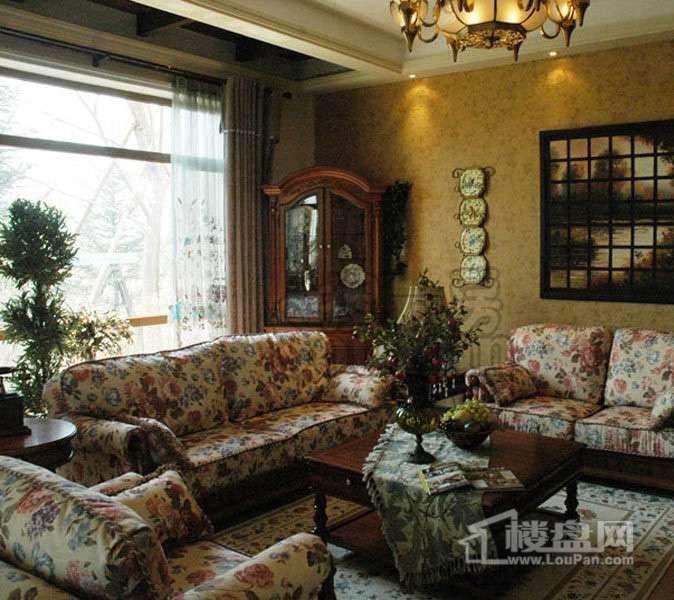 天津碧桂园一期双拼W906别墅260㎡样板间客厅