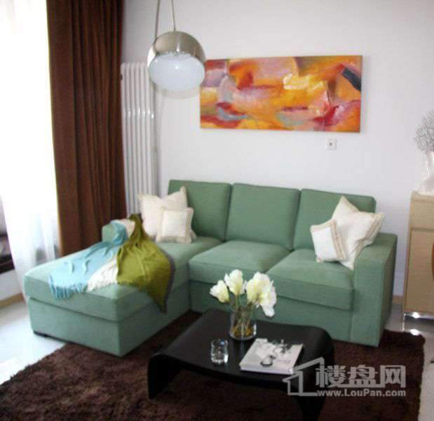 天津大悦城悦府公寓2号楼08户型样板间客厅