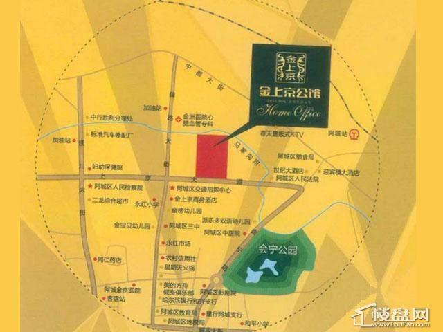 金上京公馆交通图交通示意图