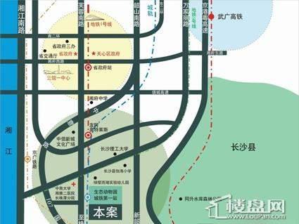 凯逸中央园著位置图