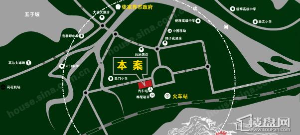 张家界国际旅游大厦位置图