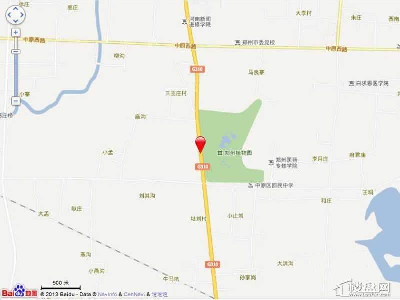 郑州金马凯旋家居CBD位置图