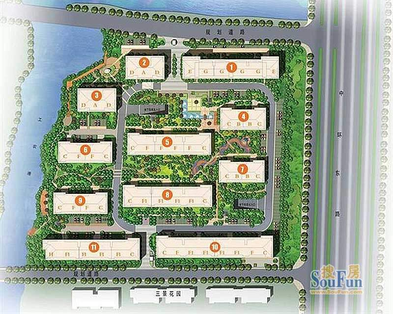 百隆花园规划图