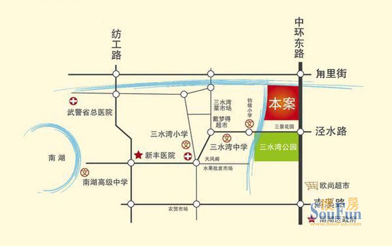 百隆花园交通图