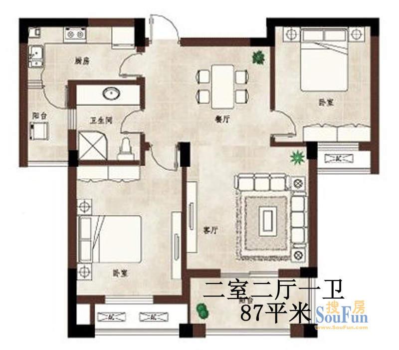 中天山水华府普通住宅A2