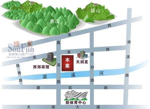 阳光嘉园交通图