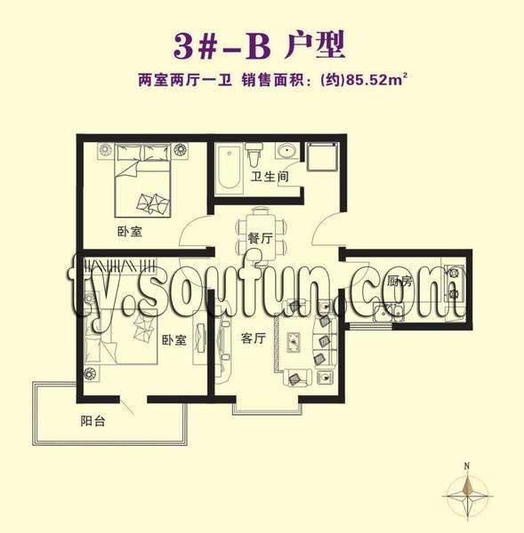 彩虹湾3#-B