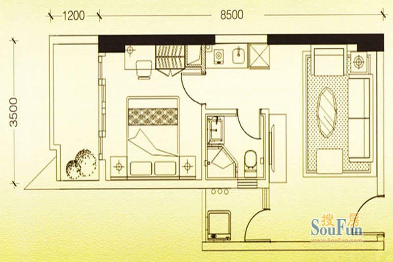 凯旋时代公寓户型图