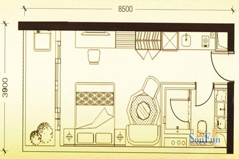 凯旋时代公寓E户型