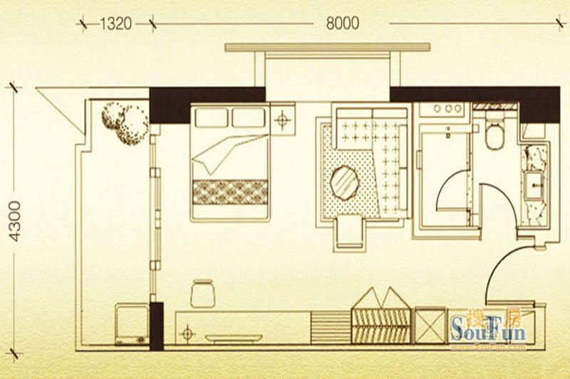 凯旋时代公寓A户型