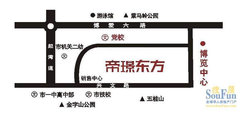 帝璟东方交通图