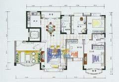 五洲花城四房两厅两卫三阳台