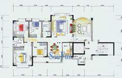 五洲花城四房两厅