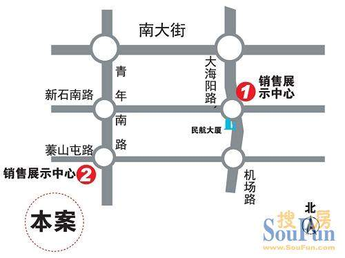 中正山庄交通图