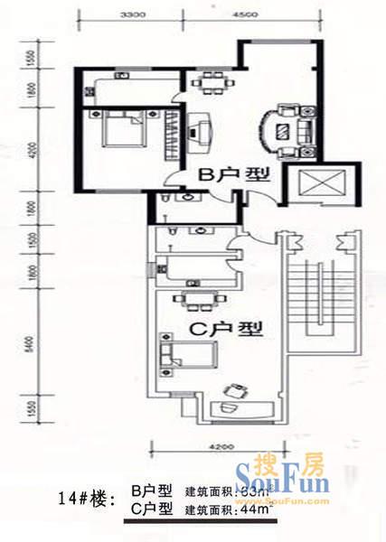 塞上骄子14号楼BC户型