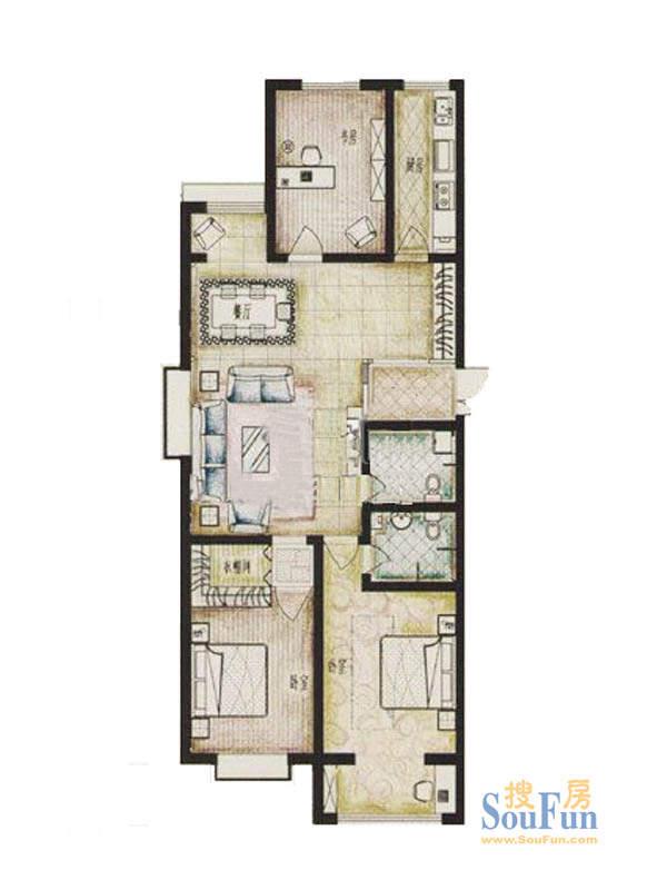 蓝郡公寓标准层