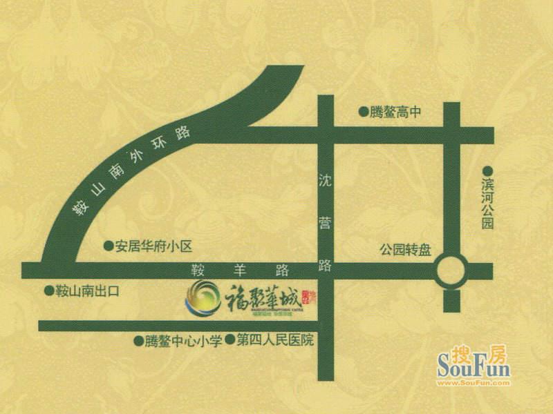 福聚华城交通图