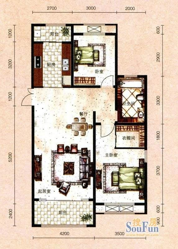 芭东海城标准层G3户型