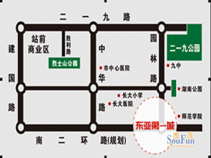 东亚第一城三期交通图