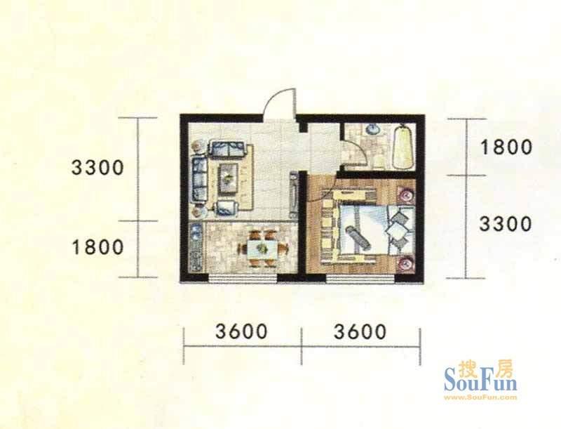金地家园标准层A1户型
