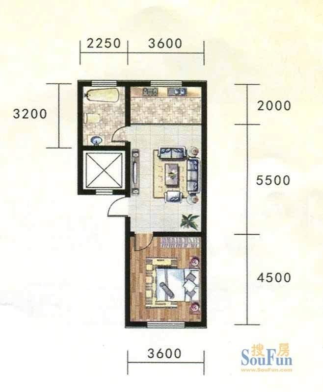 金地家园标准层A3户型