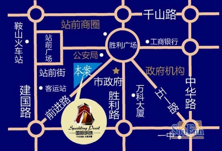 国际明珠交通图