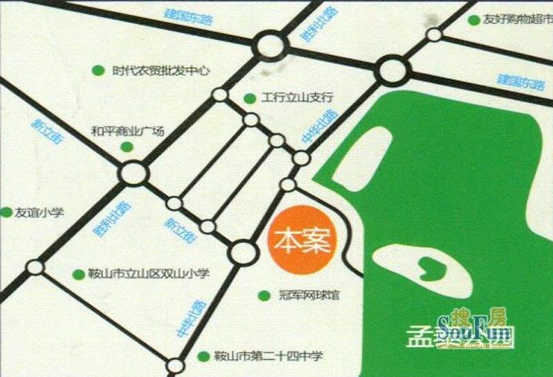 公园美景交通图