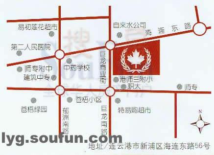 温哥华国际花园交通图