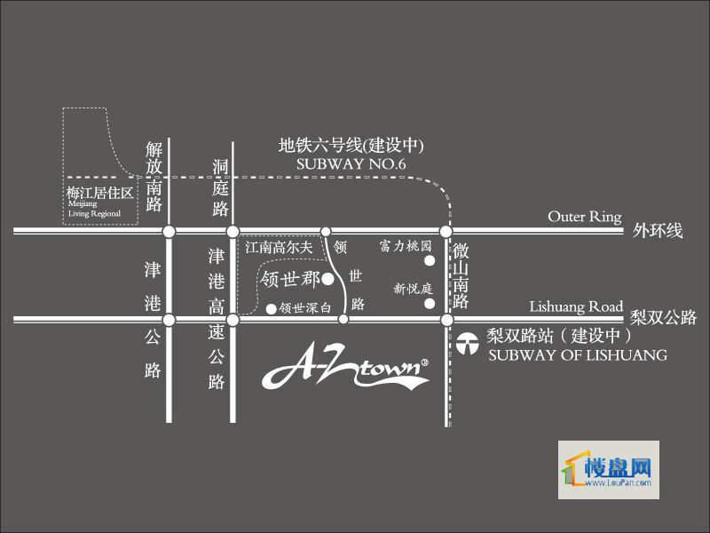 首创爱这城交通图