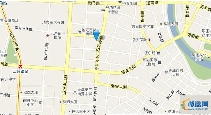 天津大都会位置图