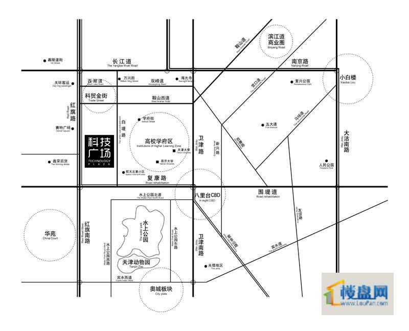 天津科技广场位置图