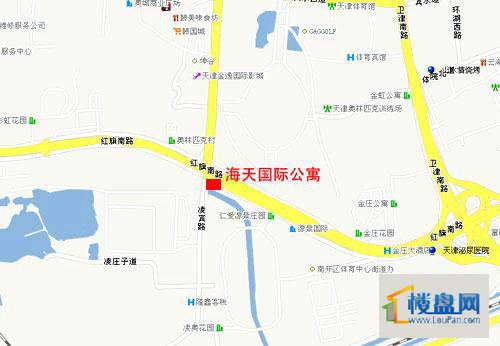 海天国际公寓位置图
