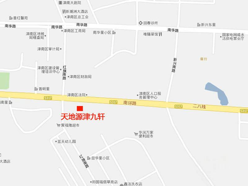天地源津九轩实景图