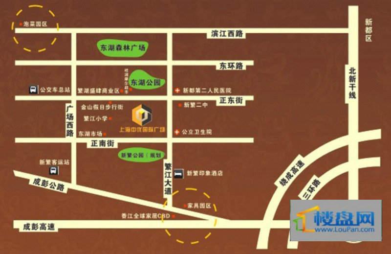上海中优国际广场交通图