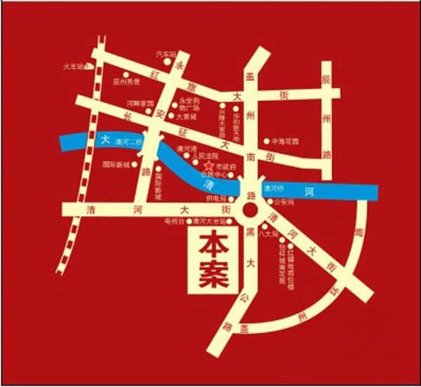 翔润一品交通图